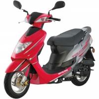 Скутер TOURS (красный/ченый/белый)